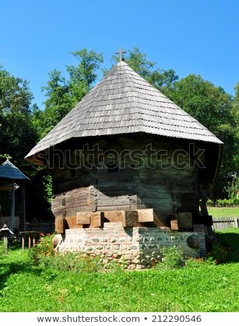 музее · Церкви · Румыния · древесины · церковная · архитектура · история - Сток-фото © tony4urban