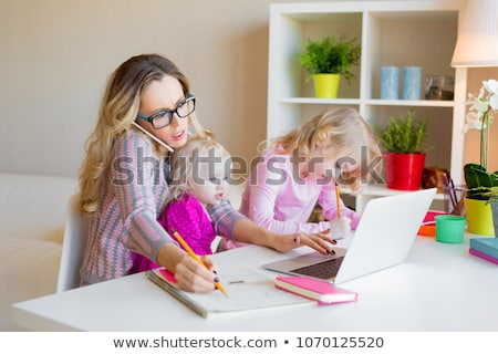 Stock photo: Stressed Mom At Home