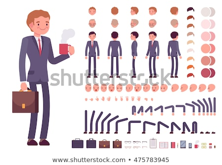 Stock photo: Set of Cartoon Businessman Character for Your Design