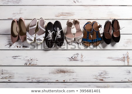 Row of different style female shoes  Stock photo © Elisanth