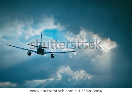 airplane flying stock photo © m_pavlov