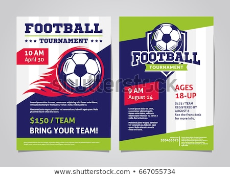 Football Tournament Flyer Tepmplate Stock photo © rioillustrator