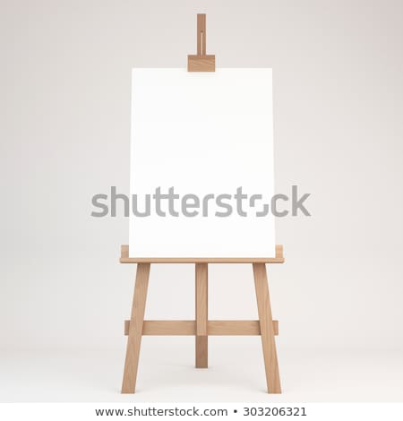 Easel with a blank canvas on a white background Stock photo © Zerbor