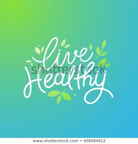 Stockfoto: Gezond · leven · dieet · beslissing · symbool · voeding · keuzes