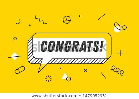 Congrats Card With Balloons Stock photo © adamson