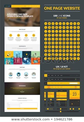 Een pagina website ui ontwerpsjabloon iconen Stockfoto © DavidArts