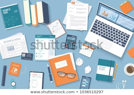 felső · kilátás · munkahely · vektor · fejlesztés · asztal - stock fotó © robuart