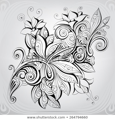 celtic floral decoration or tattoo art stock photo © shawlinmohd