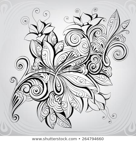 Celtic floreale decorazione tattoo arte frame Foto d'archivio © shawlinmohd