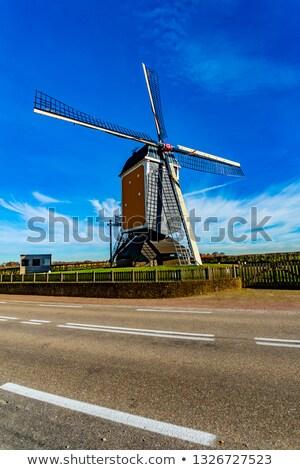 Holandés molino tacón pueblo Holanda madera Foto stock © compuinfoto