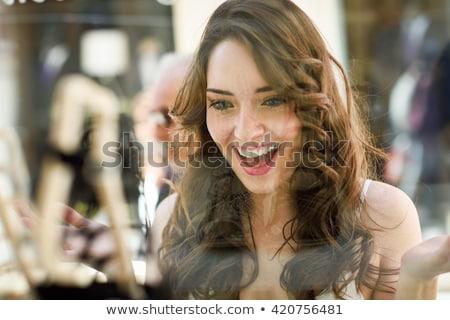 ショッピング 少女 ショーケース 女性 センター 袋 ストックフォト © Kor