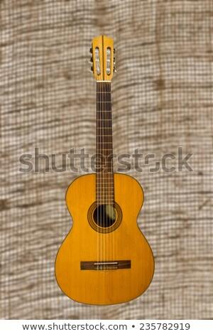 クラシカル ギター 黄麻布 古い 木材 レトロな ストックフォト © Valeriy