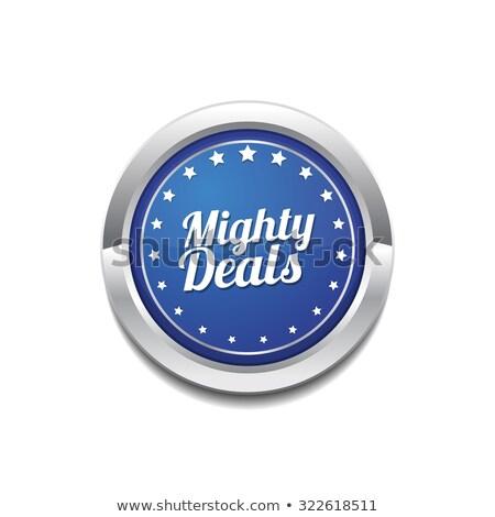 Mighty Deals Blue Vector Icon Button Stock photo © rizwanali3d