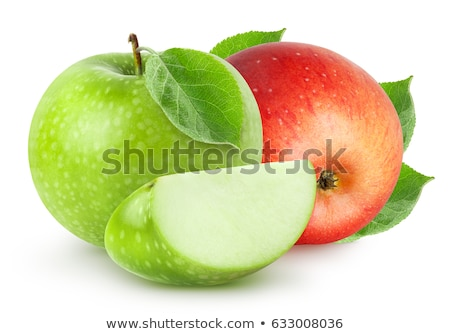 Two bright fresh apples red green stock photo © aliaksandra