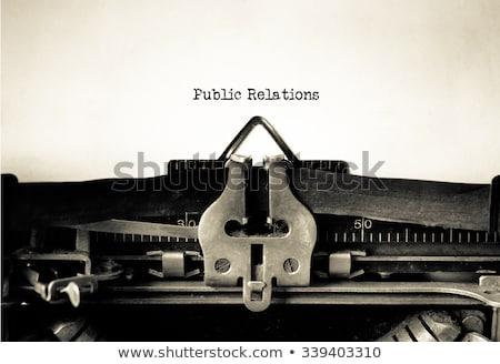 Public Relations Typewriter Stock photo © ivelin