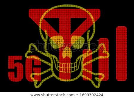 опасность излучение иллюстрация опасность знак завода Сток-фото © adrenalina
