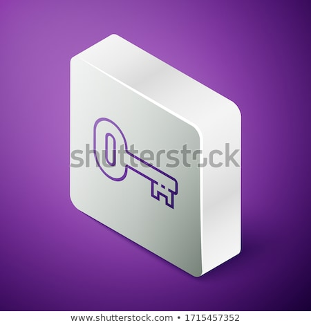 Unlock Purple Vector Icon Button Stock photo © rizwanali3d