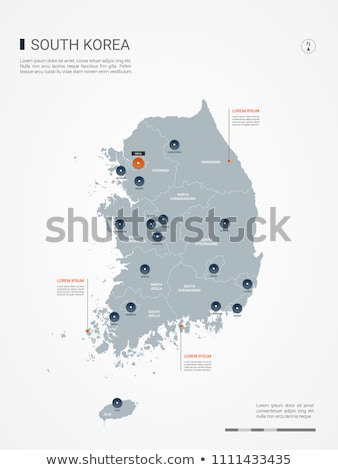 button as a symbol map south korea stock photo © mayboro1964