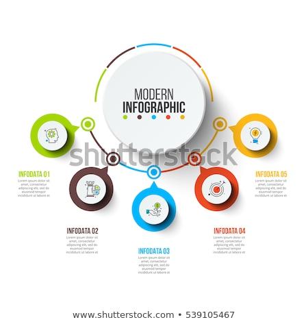grafikonok · diagramok · vektor · üzlet · iroda · pénz - stock fotó © Mr_Vector