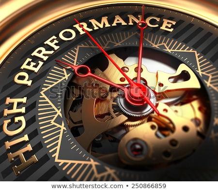 action on black golden watch face stock photo © tashatuvango