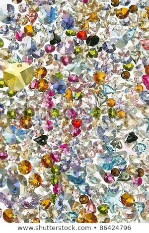 background with colorful ornaments and precious stones stock photo © yurkina