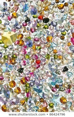 Renkli süsler değerli taşlar örnek çiçek Stok fotoğraf © yurkina