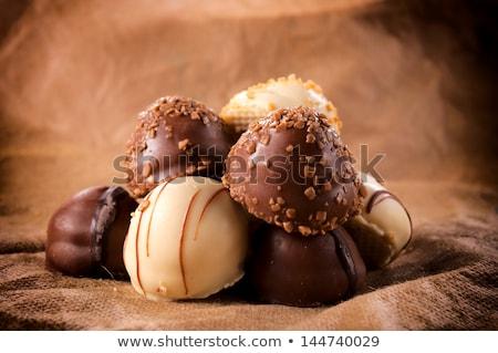 Belgian chocolates with nuts Stock photo © BarbaraNeveu