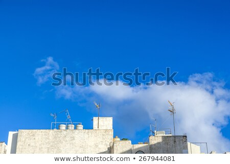 detail of architecture in Arrecife with white washed walls Stock photo © meinzahn