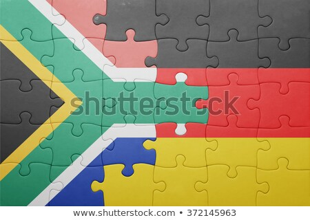 South Africa and Germany Flags in puzzle Stock photo © Istanbul2009