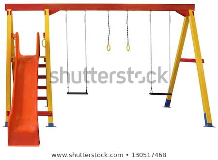 スライド · 赤 · 空 · 建設 · 夏 · 楽しい - ストックフォト © alphababy