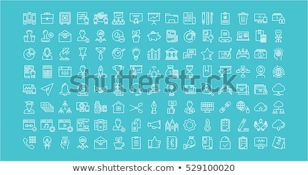 Modern flat vector business resume icons stock photo © vectorikart