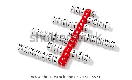 Stock photo: Threats - Word on Red Puzzles.