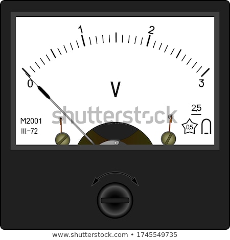 old obsolete electric voltmeter device stock photo © mikko