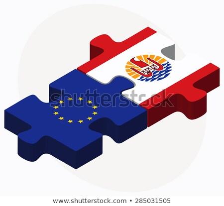 Europeu união francês polinésia bandeiras quebra-cabeça Foto stock © Istanbul2009