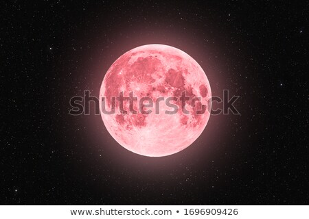 Stock photo: pink moon