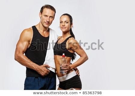Sportu para człowiek kobieta fitness wykonywania Zdjęcia stock © vlad_star