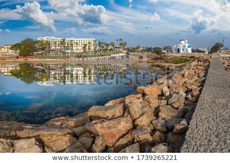 iglesia · Chipre · mar · verano · azul · arquitectura - foto stock © kirill_m
