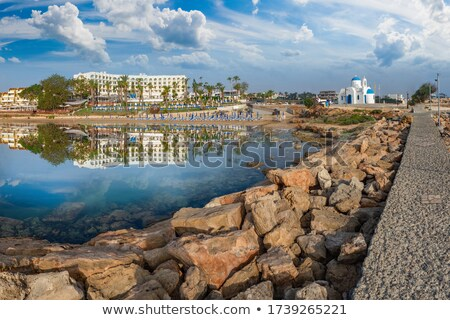 kerk · Cyprus · huis · zon · zee · kruis - stockfoto © kirill_m