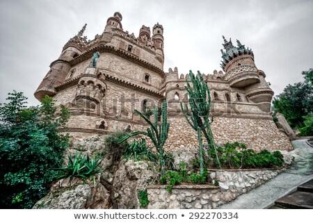 part of colomares castle in benalmadena town spain stock photo © amok