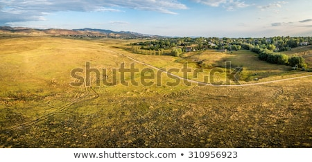prairie at Colorado foothills - aerial view Stock photo © PixelsAway