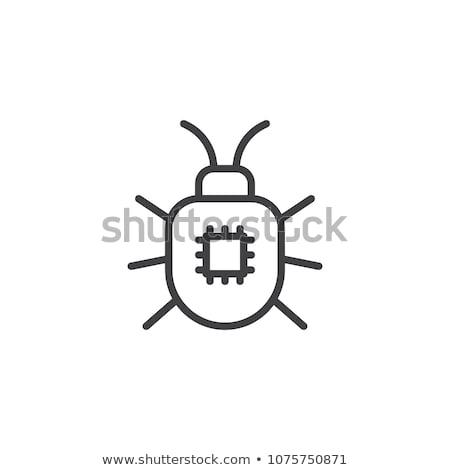 virus · geïnfecteerde · pc · waarschuwing · alarm · notebook - stockfoto © szefei