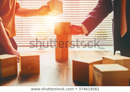 constructing a business partnership stock photo © lightsource