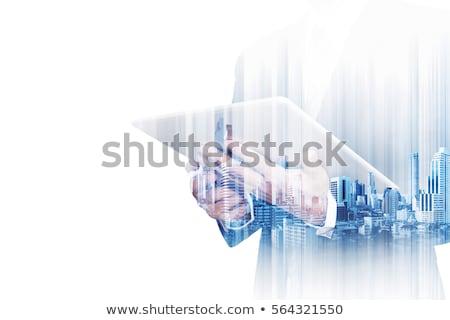 Tabletka matrycy komputera biuro streszczenie technologii Zdjęcia stock © netkov1