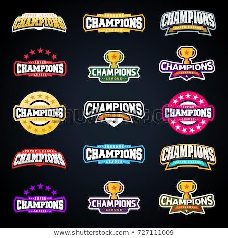 Sport emblème champion ligue badge graphique Photo stock © mikemcd