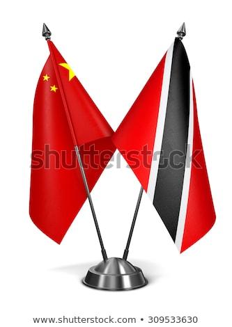 中国 ミニチュア フラグ 孤立した 白 通信 ストックフォト © tashatuvango