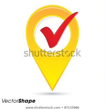 Map pointer with Check mark. Stock photo © almagami