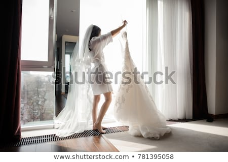 Moda sposa studio spogliatoio tavola Foto d'archivio © bezikus