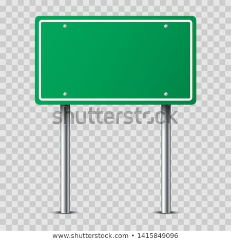 two road signs isolated on white stock photo © shutswis
