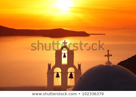 Greek church bells against blue sky Stock photo © icefront