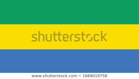 Gabão país bandeira mapa forma texto Foto stock © tony4urban